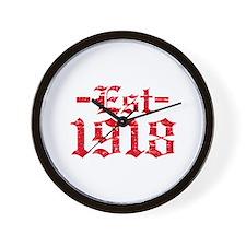 Established in 1918 Wall Clock