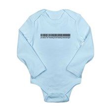 Messenger, Baby Barcode, Long Sleeve Infant Bodysu