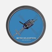Metro Helicopters Wall Clock