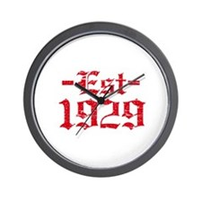 Established in 1929 Wall Clock