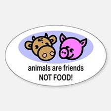 Animals Are Friends Oval Decal