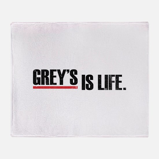 Grey's is life Throw Blanket