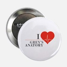 "I love grey's anatomy 2.25"" Button"