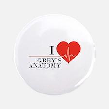 "I love grey's anatomy 3.5"" Button"