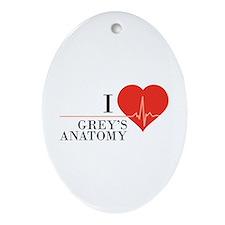 I love grey's anatomy Ornament (Oval)
