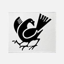 Three Legged Crow Throw Blanket