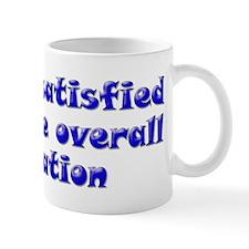 Unsatisfied, blue Mug
