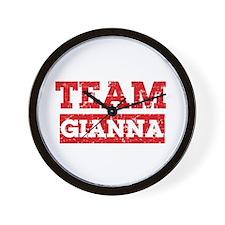 Team Gianna Wall Clock