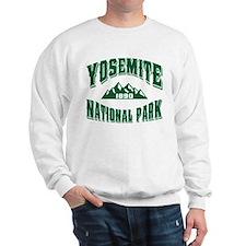 Yosemite Old Style Green Sweatshirt