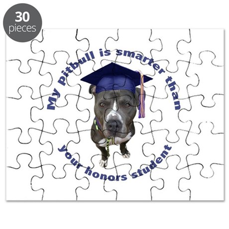 Pit bull is smarter - circle Puzzle