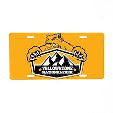 Yellowstone Gold Bear Aluminum License Plate