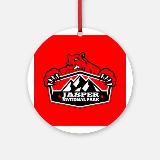 Jasper Red Bear Ornament (Round)