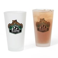 Mt. Rainier Brown Bear Drinking Glass