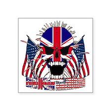 """European American Square Sticker 3"""" x 3"""""""