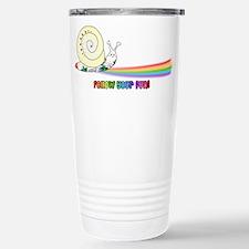 Rainbow Follow Your Fun Cute Snail Travel Mug