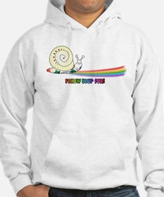 Rainbow Follow Your Fun Cute Snail Hoodie