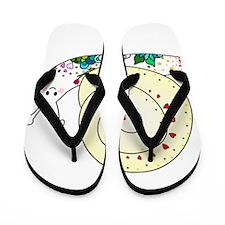 Colorful Cute Snail Flip Flops