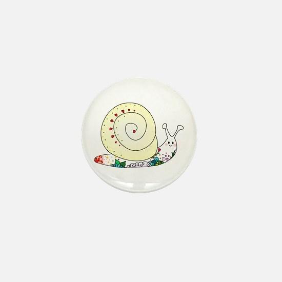 Colorful Cute Snail Mini Button