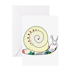 Colorful Cute Snail Greeting Card