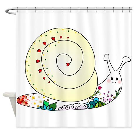 Colorful Cute Snail Shower Curtain