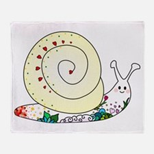 Colorful Cute Snail Throw Blanket