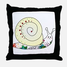 Colorful Cute Snail Throw Pillow