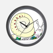 Colorful Cute Snail Wall Clock