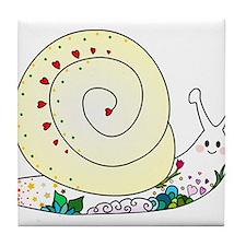 Colorful Cute Snail Tile Coaster