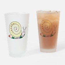 Colorful Cute Snail Drinking Glass