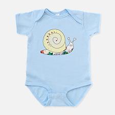 Colorful Cute Snail Infant Bodysuit