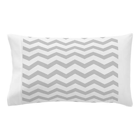 Grey Chevron Pattern Pillow Case