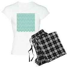 Aqua Teal chevron pattern Pajamas
