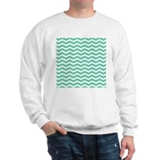 Aqua Teal chevron pattern Sweatshirt