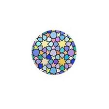 Star Stain Glass Pattern Mini Button
