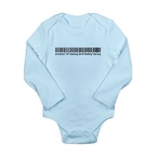 Talley, Baby Barcode, Long Sleeve Infant Bodysuit