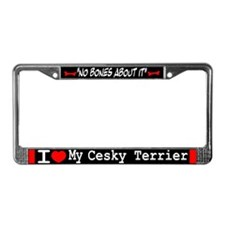 NB_Cesky Terrier License Plate Frame