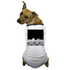 Black and White Ribbon Damask Dog T-Shirt