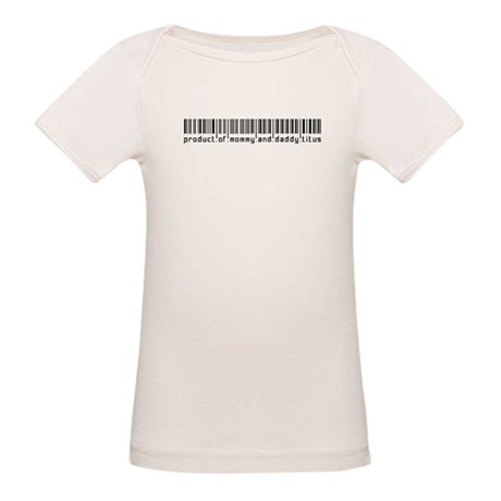 Titus, Baby Barcode, Organic Baby T-Shirt