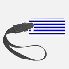 Navy Blue and White Sailor stripes Luggage Tag