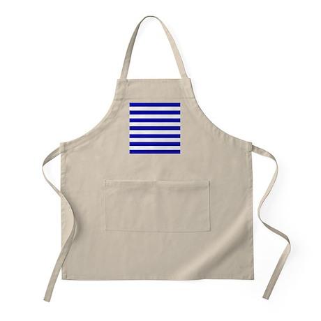 Navy Blue and White Sailor stripes Apron