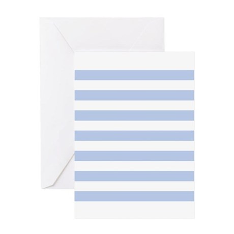 Blue and White sailor stripe pattern Greeting Card