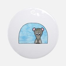 Mouse in a Car. Ornament (Round)