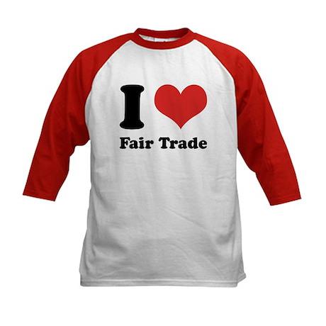 I Heart Fair Trade Kids Baseball Jersey