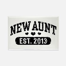New Aunt Est. 2013 Rectangle Magnet