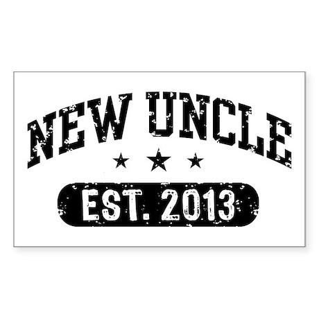 New Uncle Est. 2013 Sticker (Rectangle)