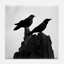 The Evening Call by Angela Leonetti Tile Coaster