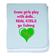 Real Girls Go Fishing baby blanket