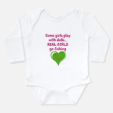 Real Girls Go Fishing Long Sleeve Infant Bodysuit