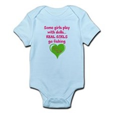 Real Girls Go Fishing Infant Bodysuit