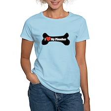 I Love My Pinscher - Dog Bone T-Shirt